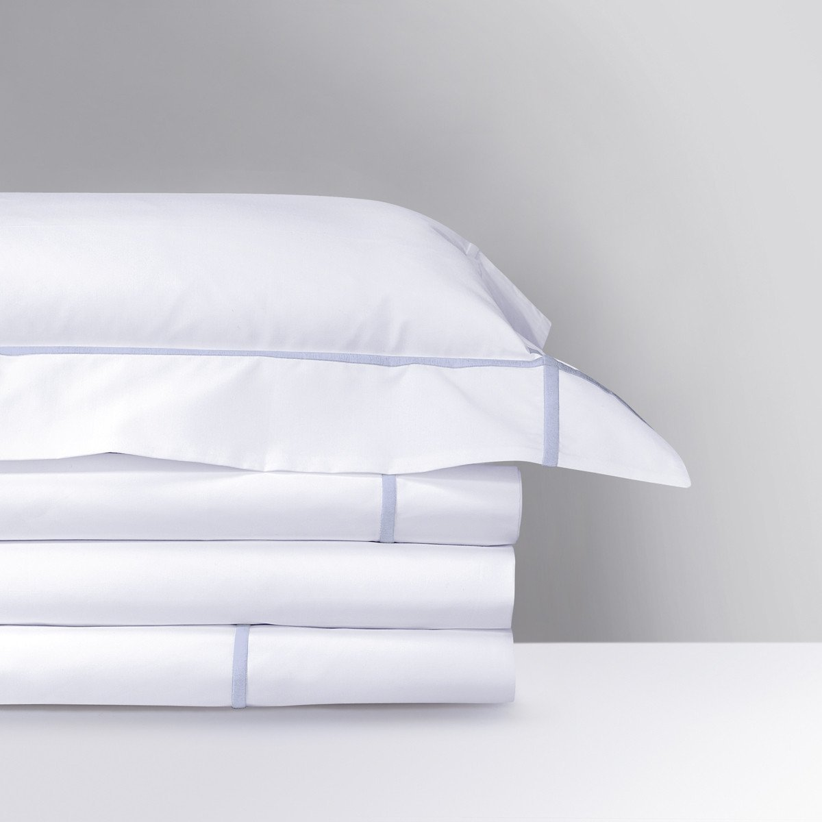 Athena Opalia Bedding Collection by Yves Delorme | Fig Linens - white sheets, shams, pillowcase