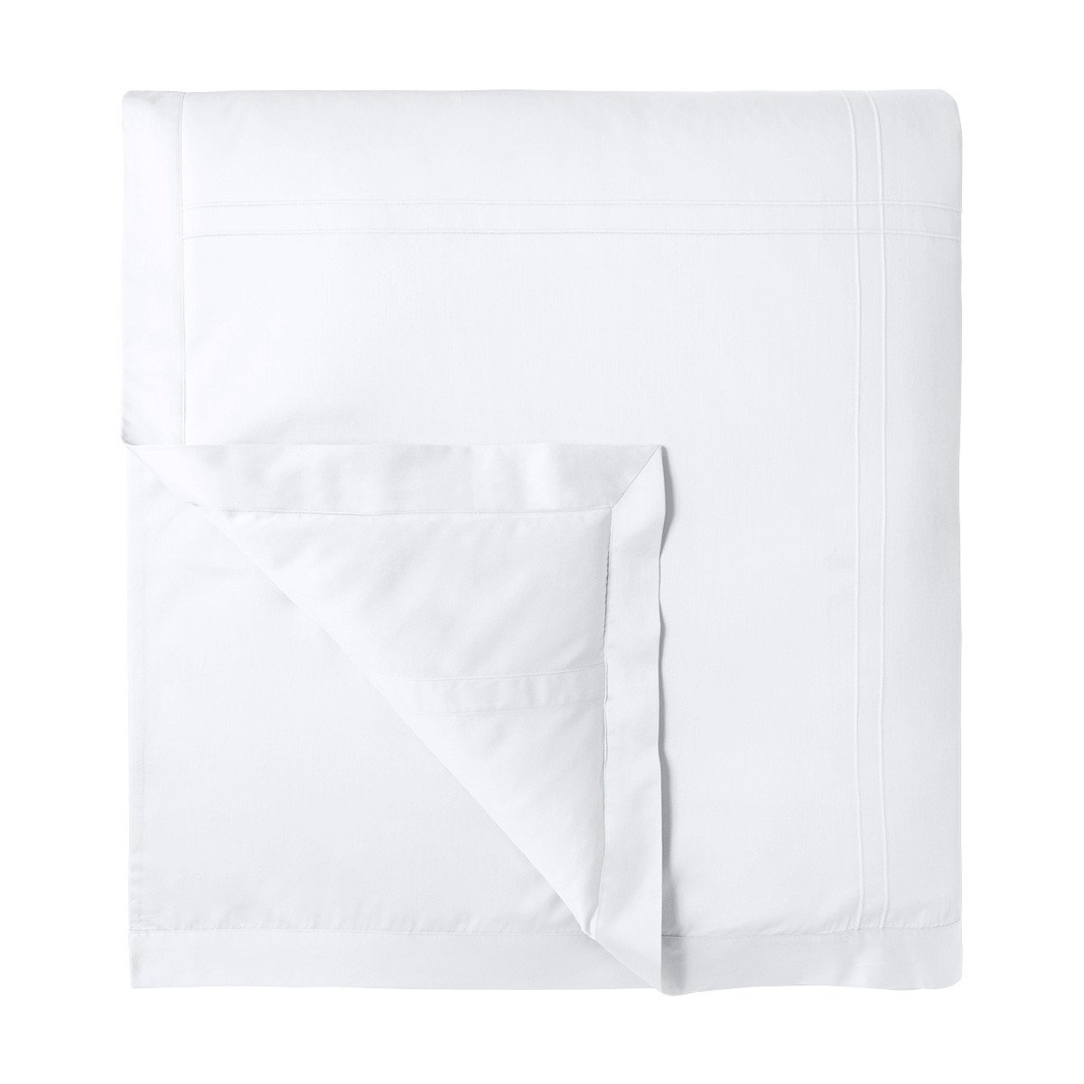 Adagio Blanc Bedding Collection by Yves Delorme | Fig Linens - White, cotton, luxury duvet cover