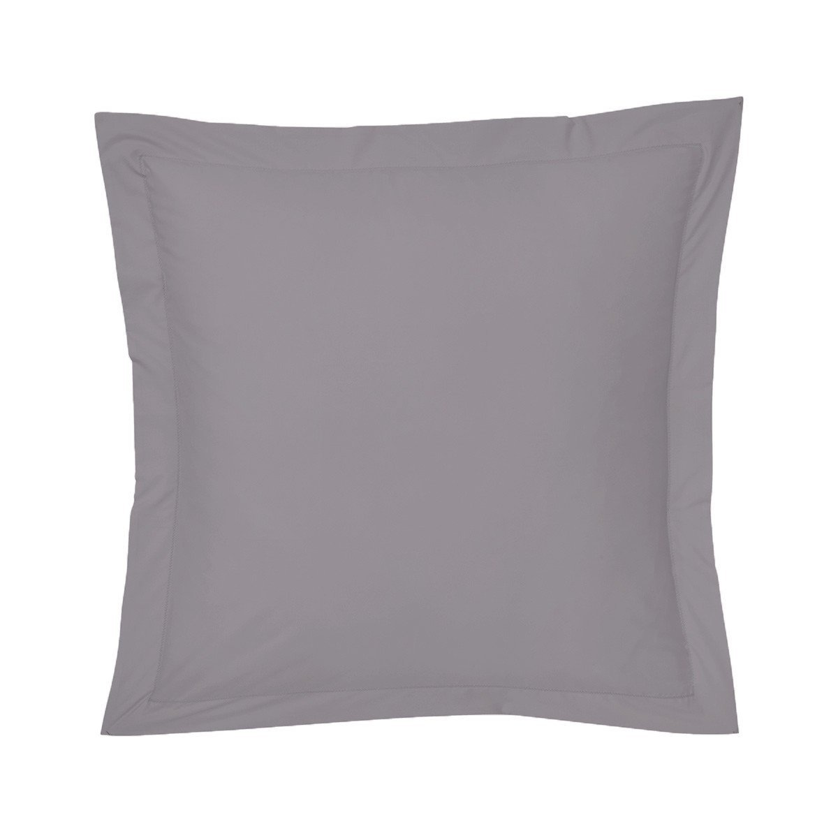 Roma Platine Gray Bedding Collection by Yves Delorme | Fig Linens - Gray bed linen, euro sham