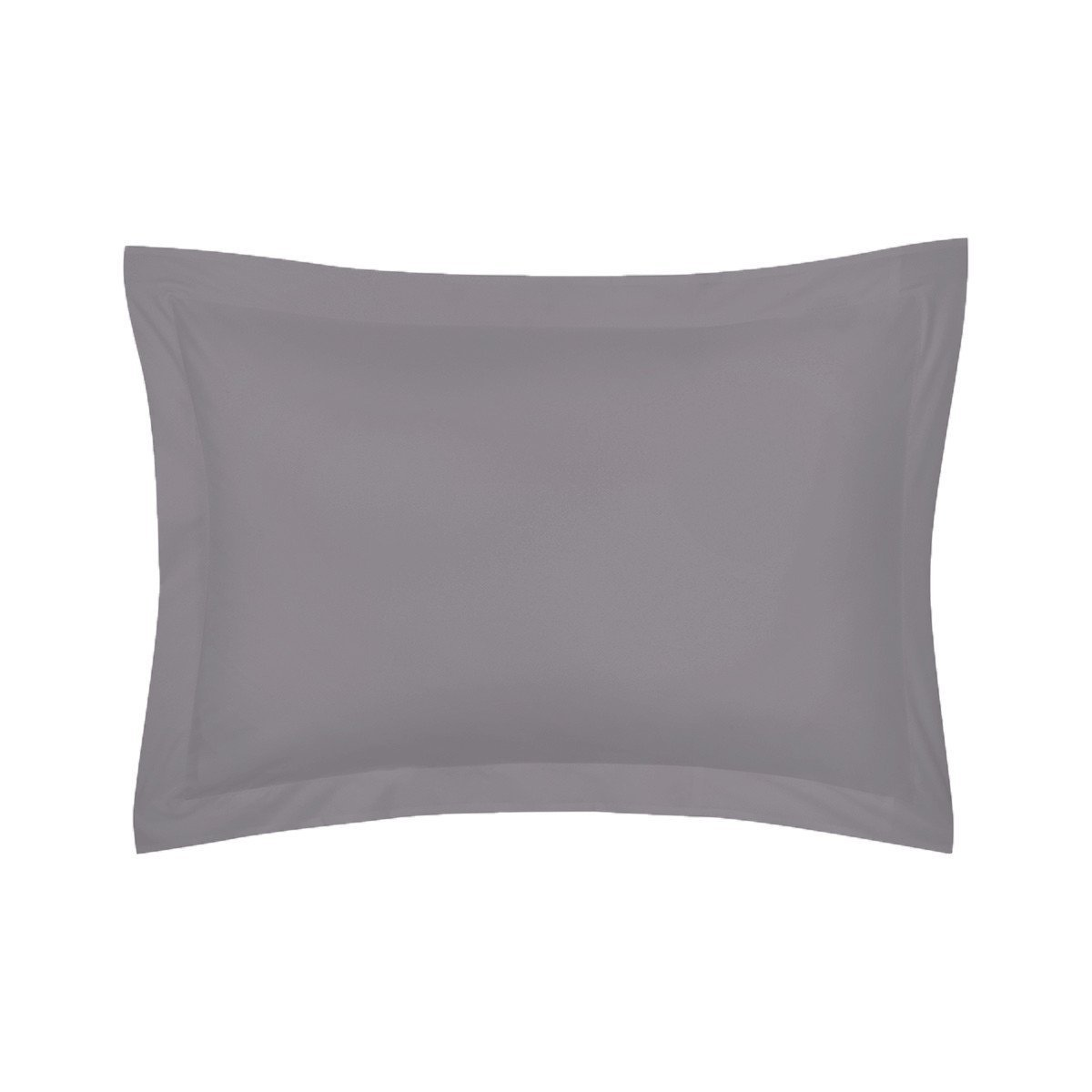 Roma Platine Gray Bedding Collection by Yves Delorme | Fig Linens - Gray bed linen, sham