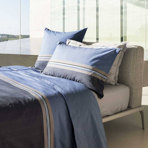 Paddy Bleu Bedding by Hugo Boss. Duvet, Sheets, Shams | Fig Linens - Lifestyle