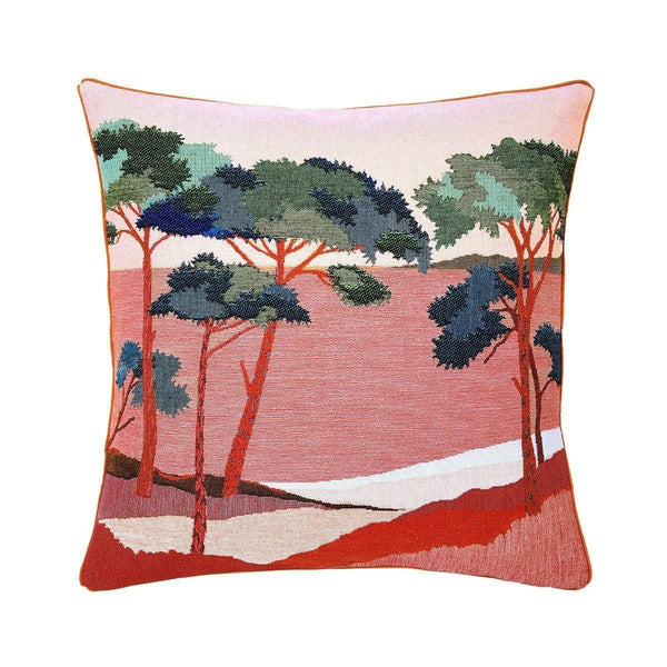 Pardi Pin Aurore Red Throw Pillow by Iosis | Fig Linens - Front