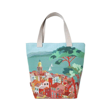 Pardi Village Ciel Blue Tote Bag by Iosis | Fig Linens