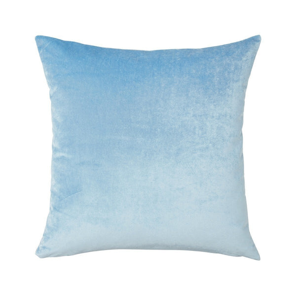 Berlingot Square Throw Pillows by Iosis Fig Linens Blue