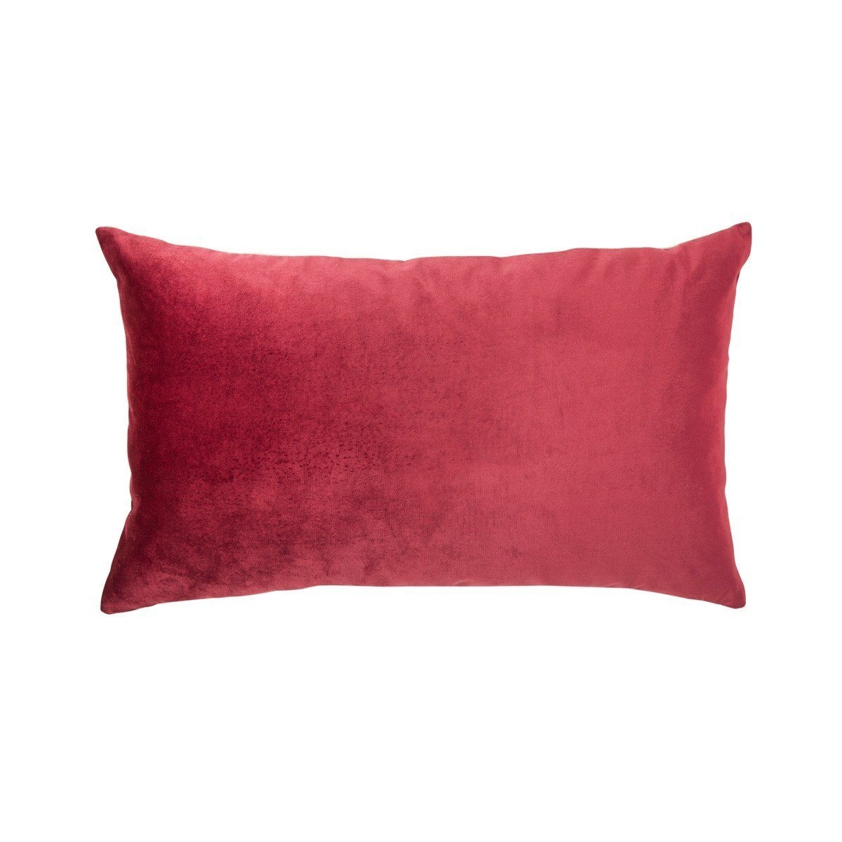 Berlingot Lumbar Decorative Throw Pillows by Iosis Fig Linens Medoc Red