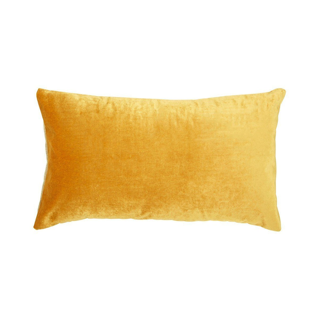 Berlingot Lumbar Decorative Throw Pillows by Iosis Fig Linens Ocre Yellow