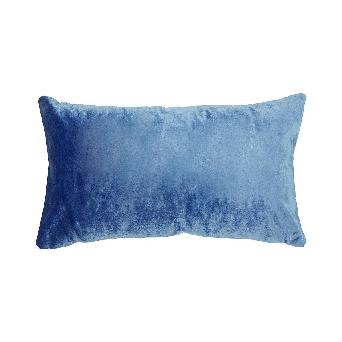 Berlingot Lumbar Decorative Throw Pillows by Iosis Fig Linens Olympe Blue