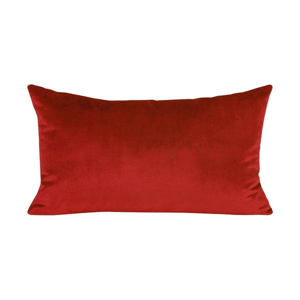 Berlingot Lumbar Decorative Throw Pillows by Iosis Fig Linens Amber Red