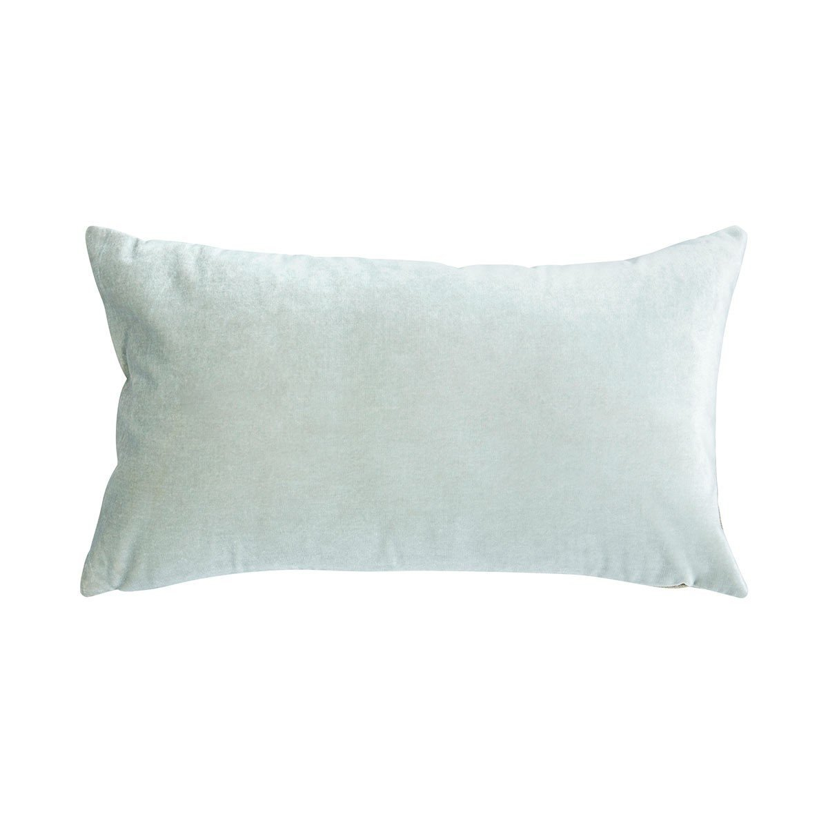 Berlingot Lumbar Decorative Throw Pillows by Iosis Fig Linens Ice Blue