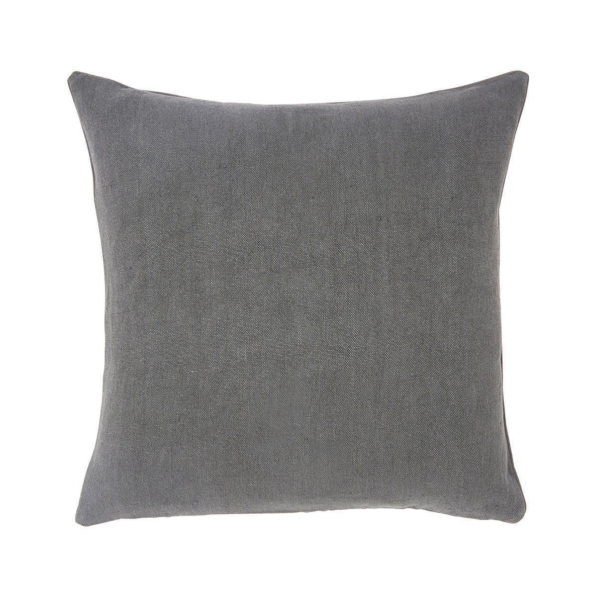 Pigment Ardoise Gray Square Throw Pillow by Iosis | Fig Linens - Front