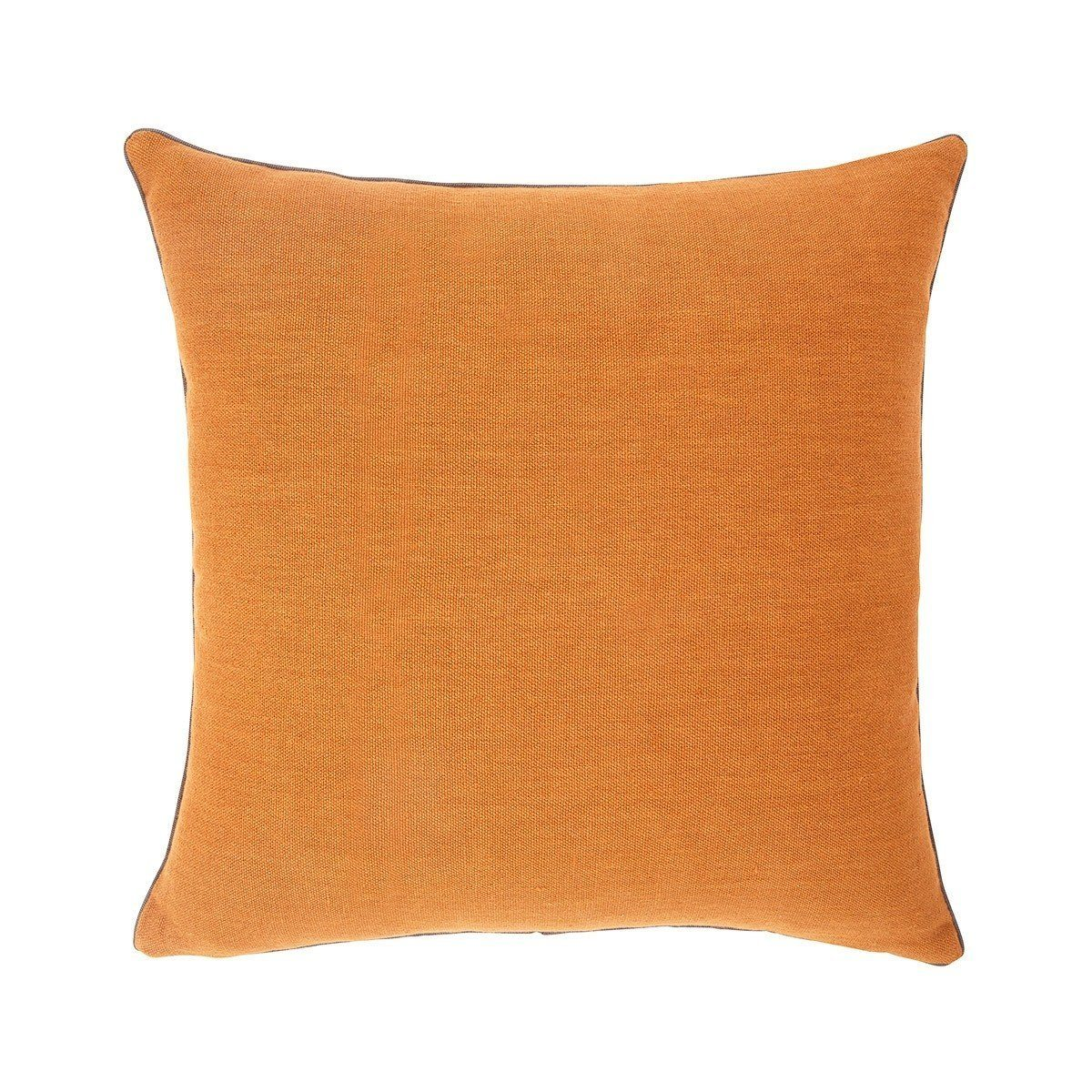Pigment Cuir Orange Throw Pillows by Iosis | Fig Linens - Front