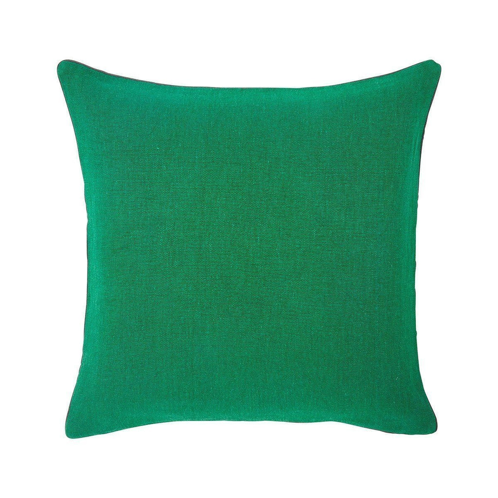 Pigment Emeraude Green Throw Pillows by Iosis | Fig Linens - Front