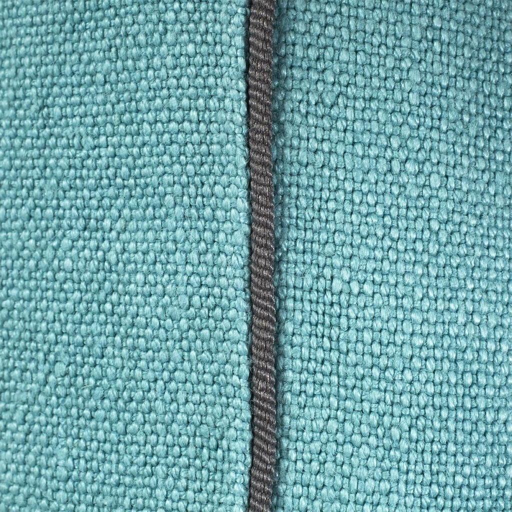 Pigment Nil Light Blue Throw Pillows by Iosis | Fig Linens - Piping