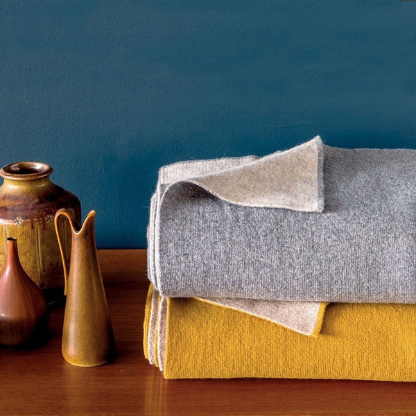 Verso Flanelle Gray Throw by Iosis | Fig Linens - Lifestyle