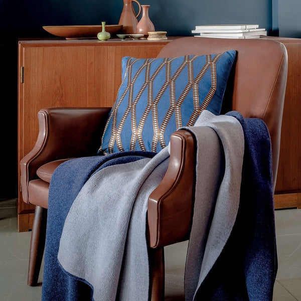 Verso Nuit Blue Throw by Iosis | Fig Linens - Lifestyle