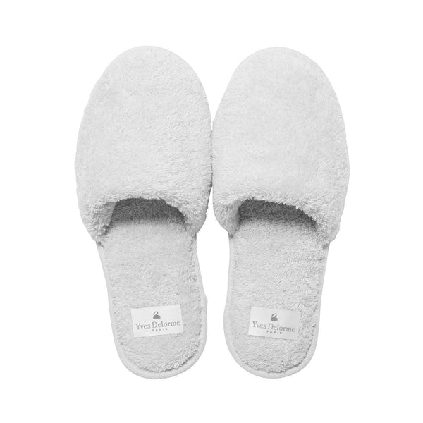Etoile Blanc Men's Slippers by Yves Delorme | Fig Linens - White slippers