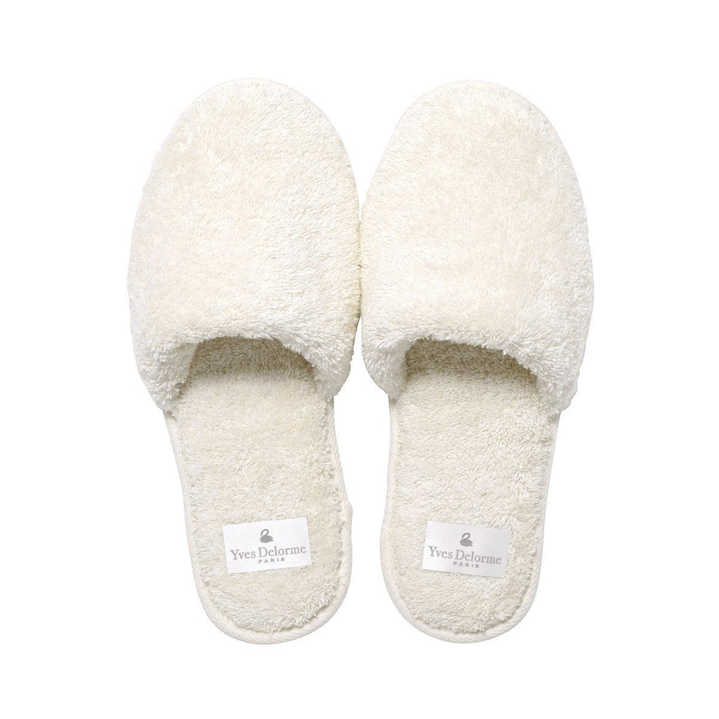 Etoile Nacre Women's Slippers by Yves Delorme | Fig Linens - Ivory slippers