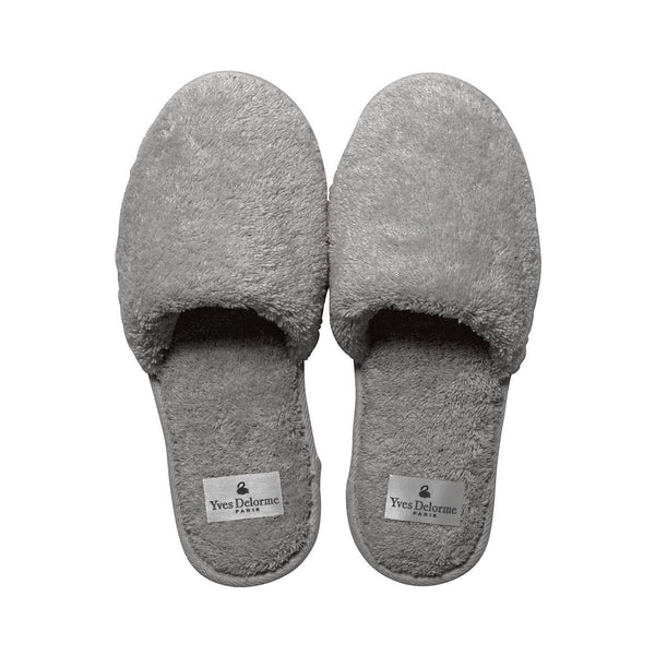 Etoile Platine Men's Slippers by Yves Delorme | Fig Linens and Home - gray slippers