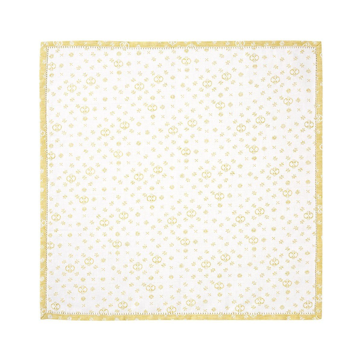 Yves Delorme Table Linen | Atria Miel  Fig Linens Yellow pastel napkin
