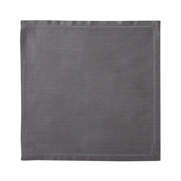 Liso Platine Table Linens by Yves Delorme Fig Linens gray napkin