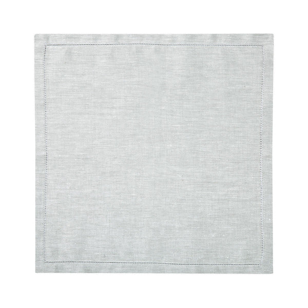 Liso Silver Table Linens by Yves Delorme Fig Linens Light Gray Napkin