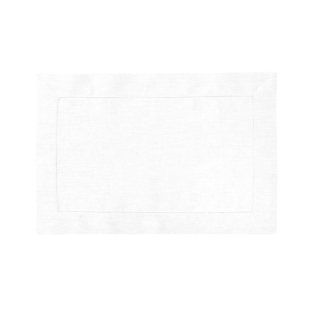 Liso Blanc Table Linens by Yves Delorme Fig Linens white placemat