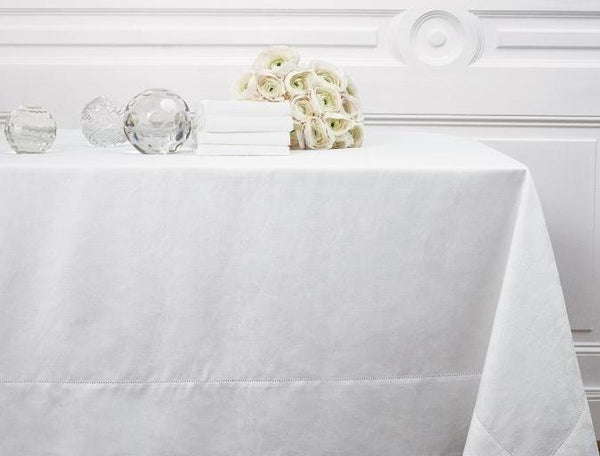 Thuline White Table Linen Yves Delorme Fig Linens Tablecloth