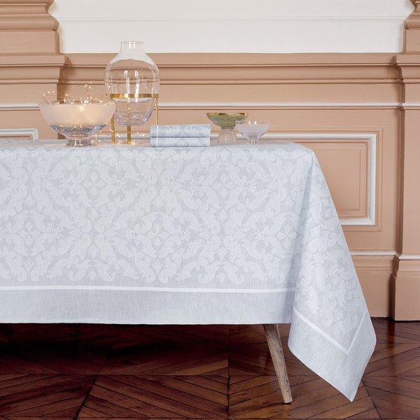 Tullia Table Linen Yves Delorme Fig Linens Light Gray Tablecloth