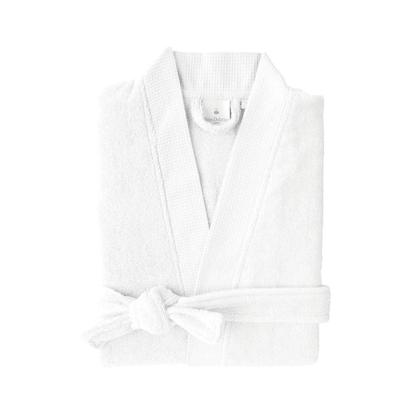 Astrée Kimono Blanc Bathrobe by Yves Delorme | Fig Linens