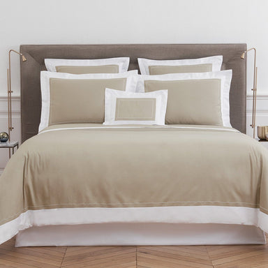 Ucetia Pierre Bedding Collection by Yves Delorme | Fig Linens - Taupe bed linens