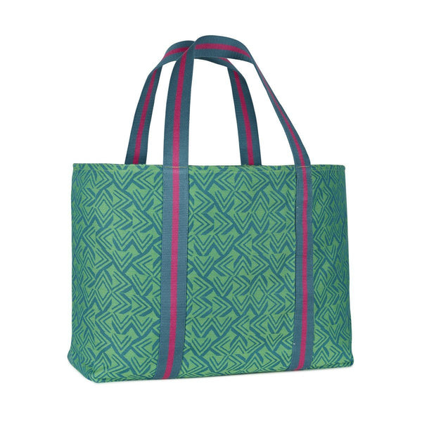 Amazonie Beach Bag by Le Jacquard Français Fig Linens Forest Green