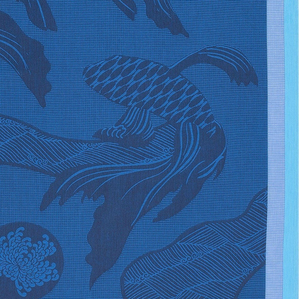 Océanique Beach Towel by Le Jacquard Français  Fig Linens Blue