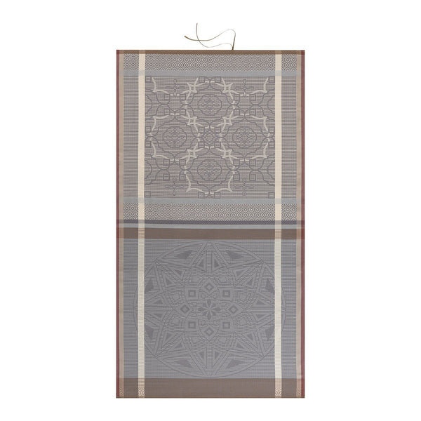 Zellige Beach Towels by Le Jacquard Français Fig Linens Mica Grey