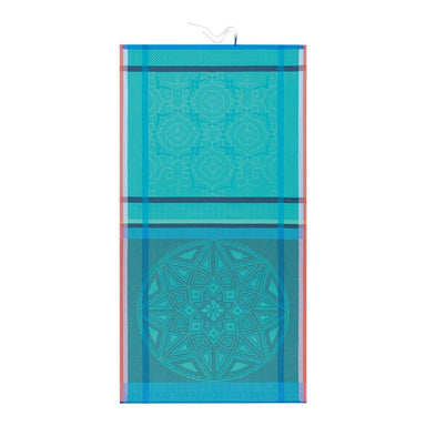 Zellige Beach Towels by Le Jacquard Français Fig Linens Turquoise Blue