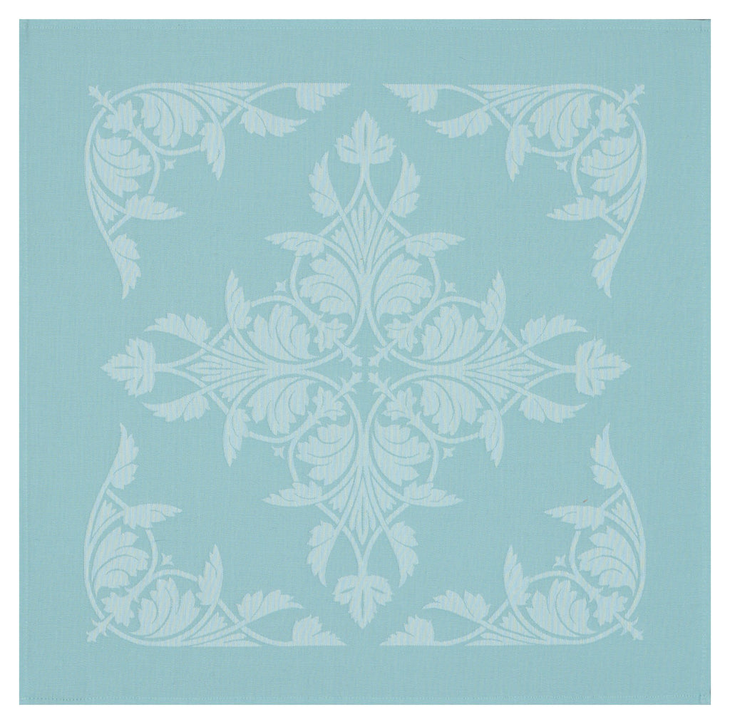 Le Jacquard Français Table Linen Syracuse Aqua  Fig Linens Blue napkin