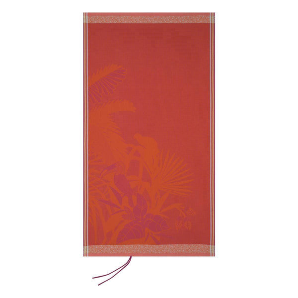 Amazonie Beach Towels by Le Jacquard Français Fig Linens  Tropical Red Orange