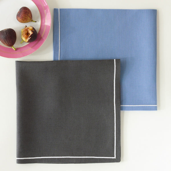 Matouk Casual Couture Satin Stitch Napkins | Fig Linens and Home