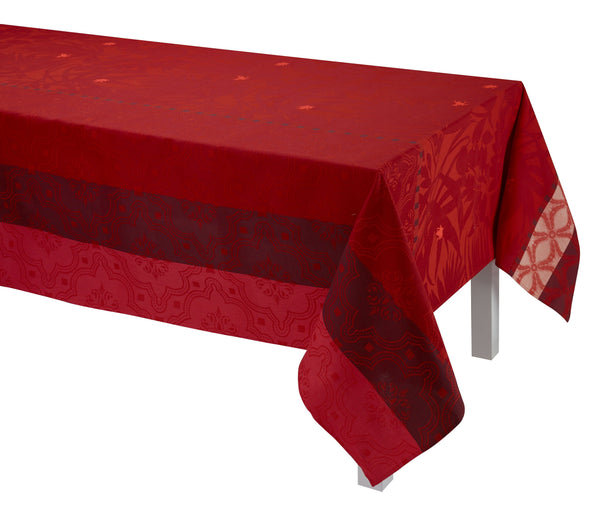 Le Jacquard Français Table Linen Bahia Red Fig Linens Tablecloth Napkin Placemat Runner