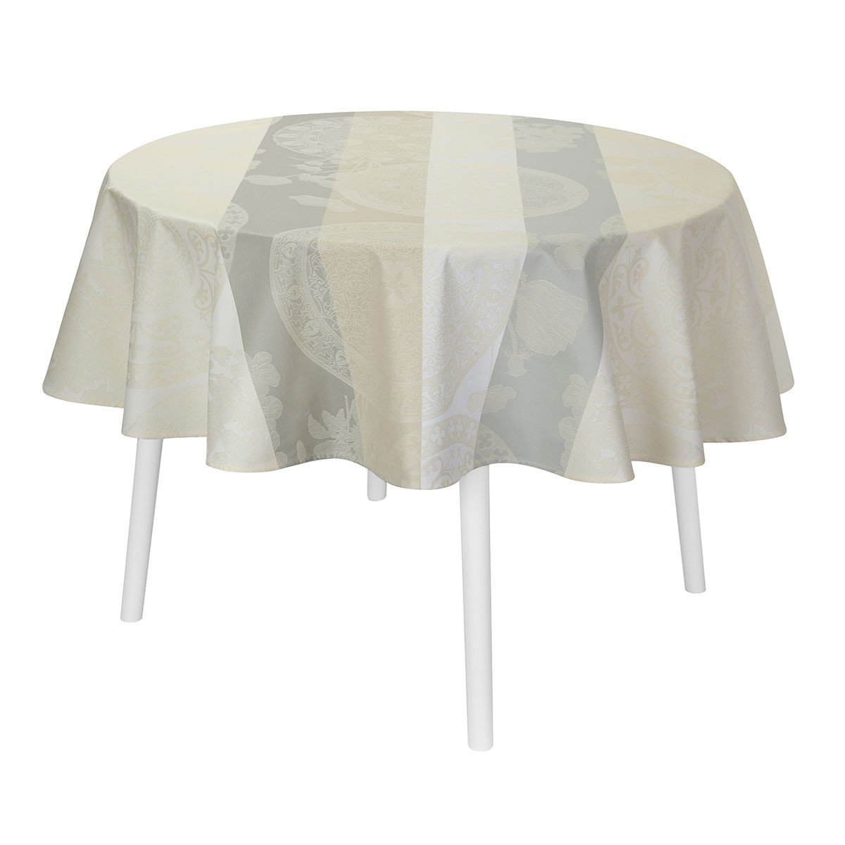 Le Jacquard Français Table Linen Fleurs Gourmandes Chalk Fig Linens Tablecloth
