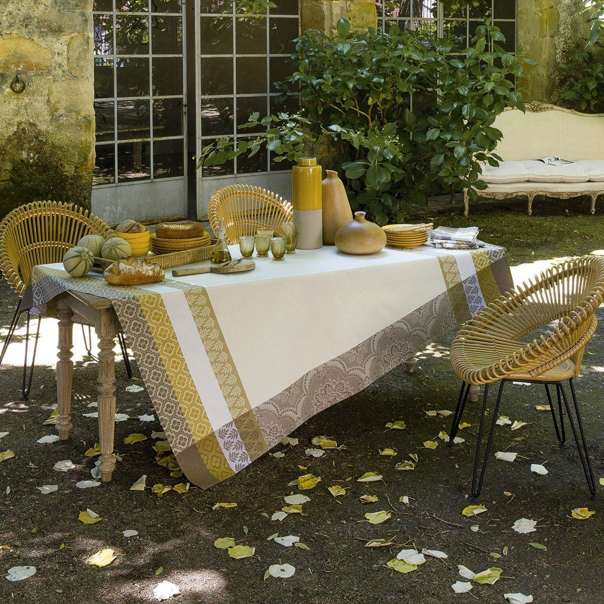 Bastide Coated Table Linens in Ivory