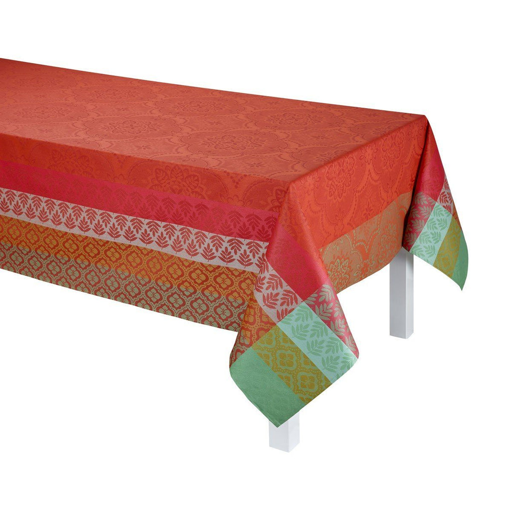 Le Jacquard Francais Coated Table Linen Bastide Red Fig Linens Tablecloth Napkin Placemat