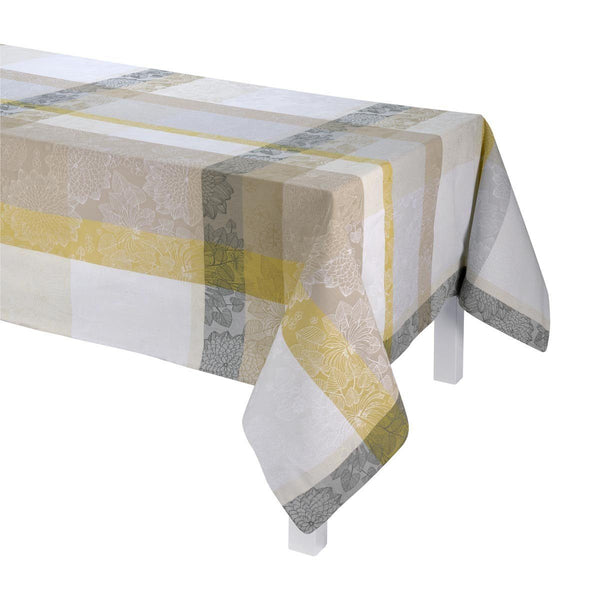 Le Jacquard Français Table Linen Marie Galante Coconut Fig Linens Tablecloth