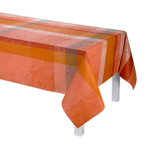 Le Jacquard Français Table Linen Marie Galante Mango Fig Linens Tablecloth