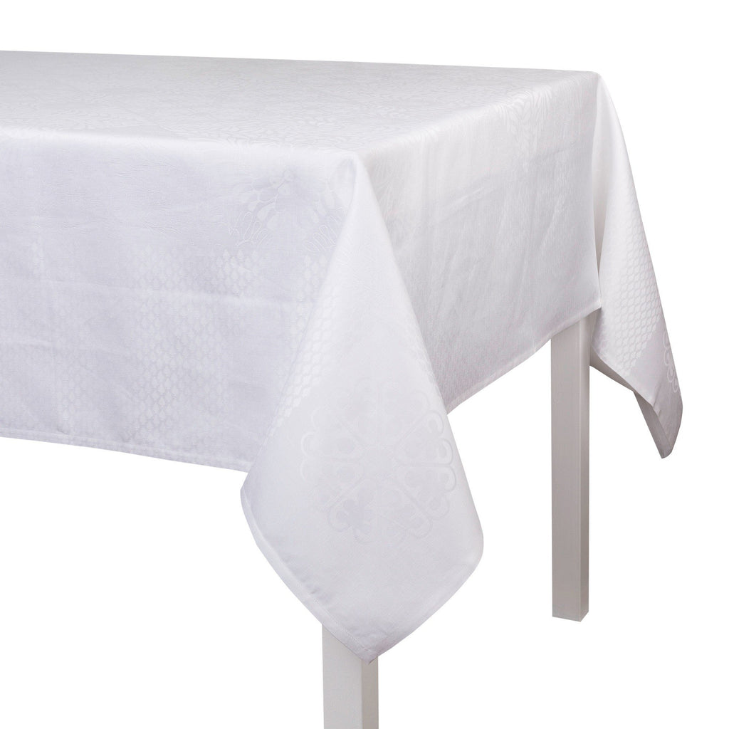 Le Jacquard Français Fine Table Linen Bosphore Blanc Fig Linens Tablecloth
