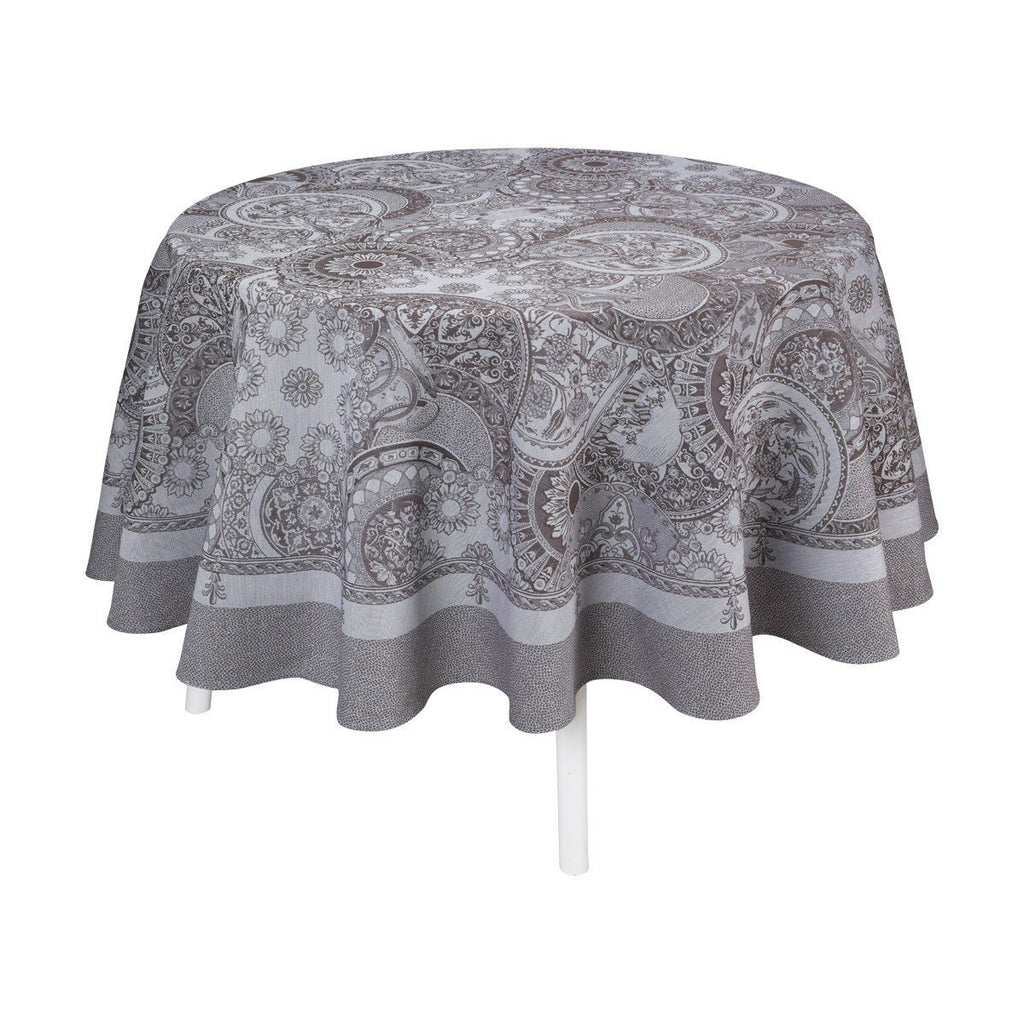 Le Jacquard Français Table Linen Porcelaine Kaolin Fig Linens  tablecloth