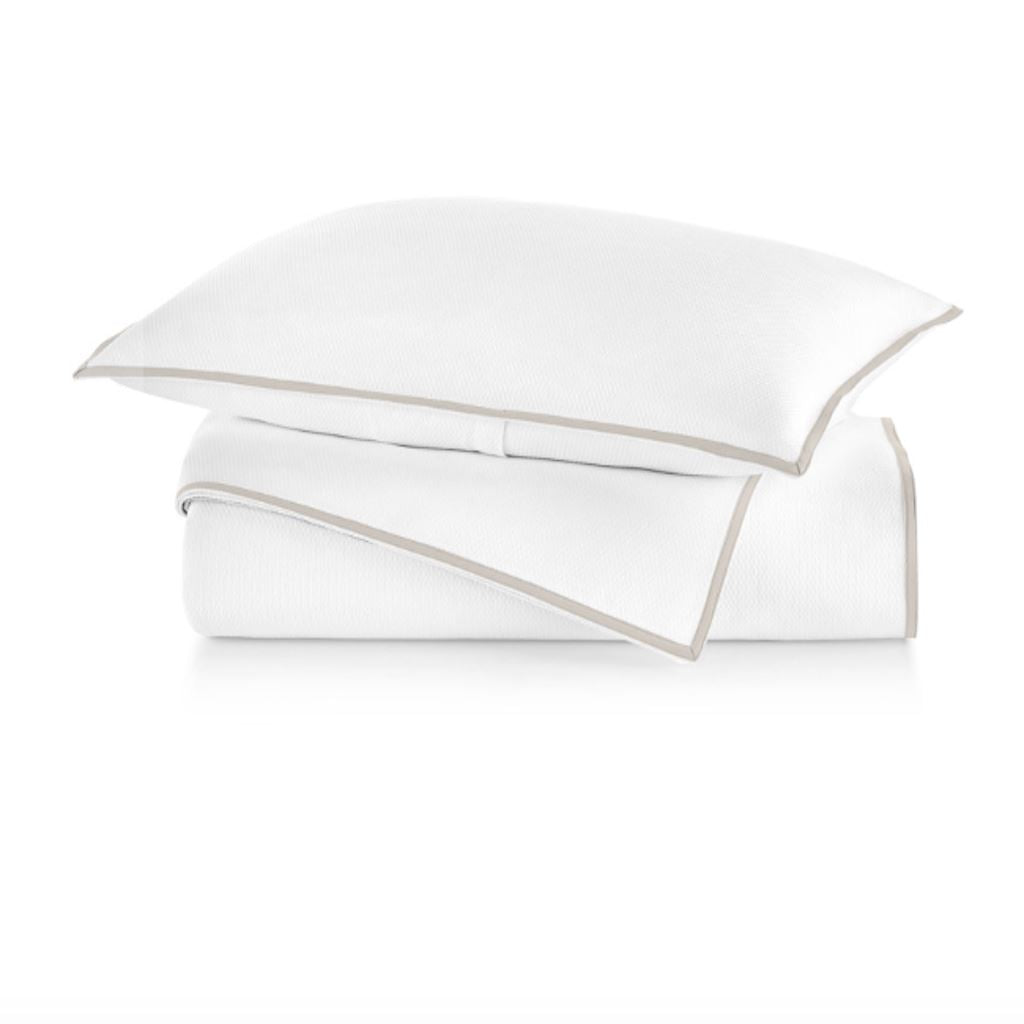 Pique II Duvets in Linen by Peacock Alley | Fig Linens