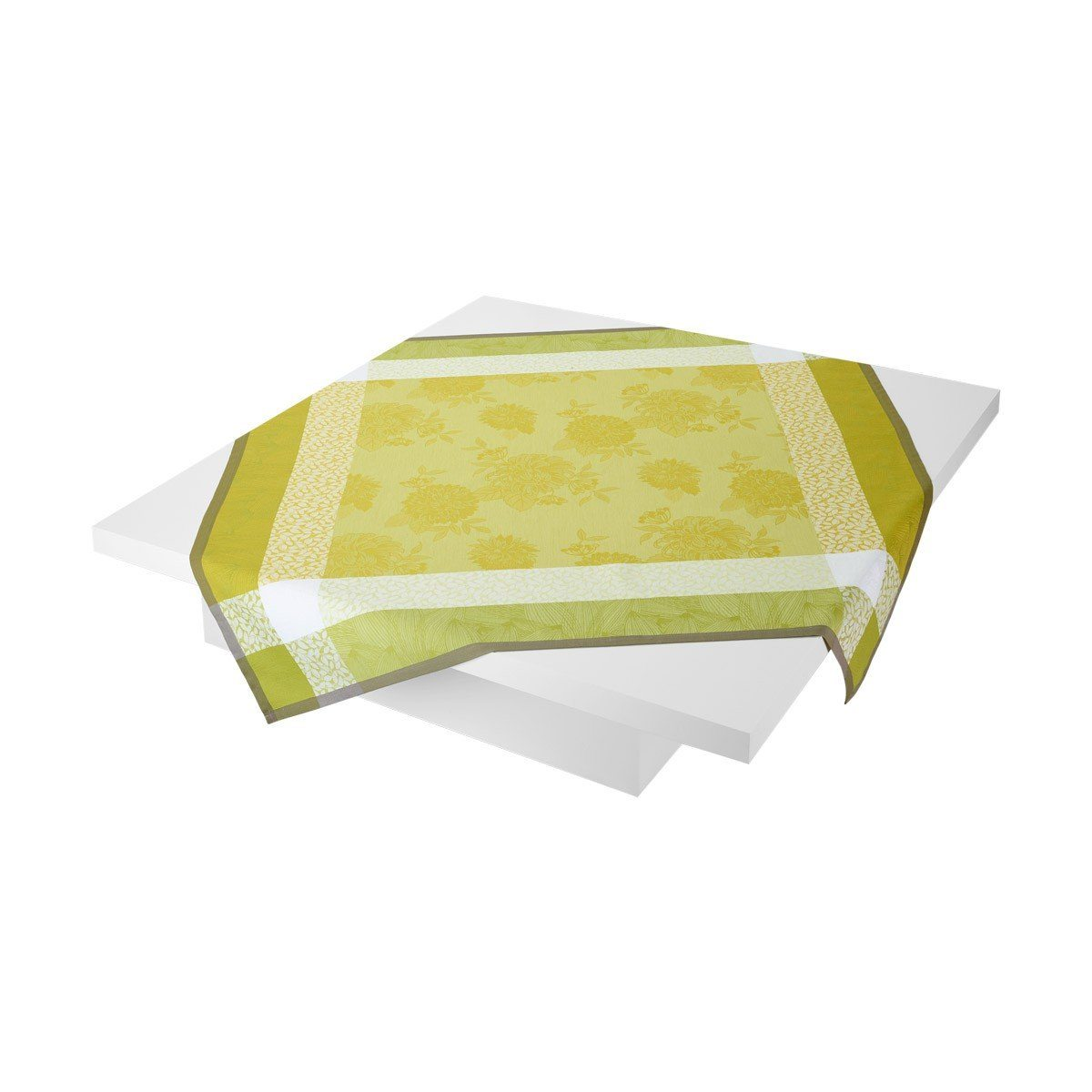 Le Jacquard Français Table Linen Parfums De Bagatelle Fig Linens Freesia Tablecloth Green Yellow