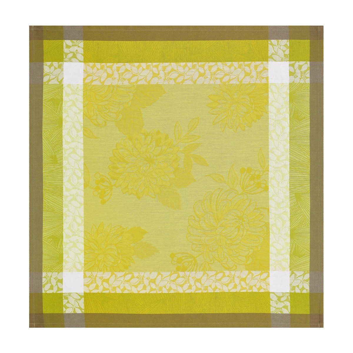 Le Jacquard Français Table Linen Parfums De Bagatelle Fig Linens Freesia Green Yellow Napkin