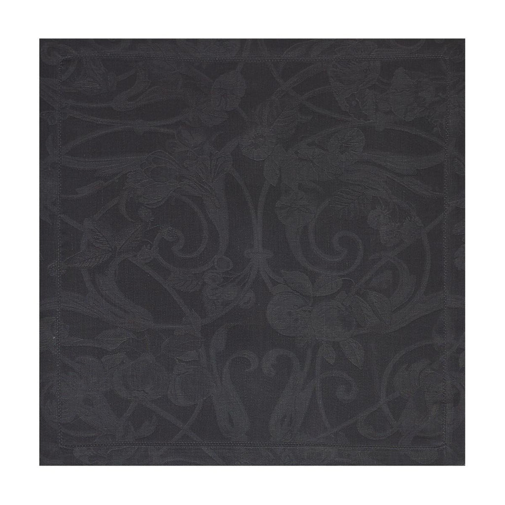 Le Jacquard Français Table Linen Tivoli in Onyx Fig Linens black napkin