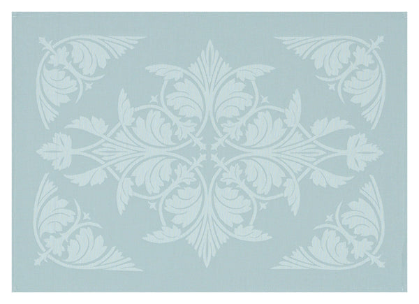 Le Jacquard Français Coated Table Linen Syracuse Enduit  Fig Linens Aqua Blue placemat